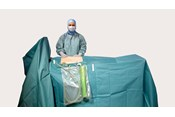 a surgeon using BARRIER laparoscopy drapes